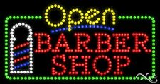 """New """"Open Barber Shop"""" 32x17 Solid/Animated Led Sign W/Custom Options 25461"""