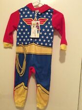 Wonder Woman Superhero Size 4T Blanket Sleeper Costume Pajamas with Hood