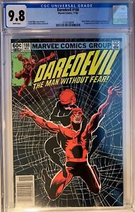 DAREDEVIL #188 (1982) CGC 9.8 NM/MT BLACK WIDOW 1st STONE, CLAW, SHAFT NEWSSTAND