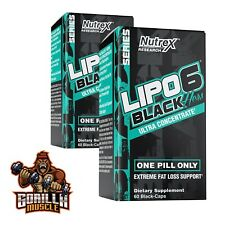 Nutrex Research Lipo6 Black Hers Ultra Concentrate 60 Black-Caps Free P&P