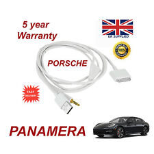 Porsche Panamera CDR-31 Sistema De Audio Iphone 3gs 4 4s Ipod Usb & Aux Cable Blanco