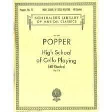 David Popper: High School Of Cello Playing Opus. 73. Violoncello Noten