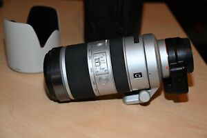 Sony 70-400mm f/4.0-5.6 SSM G Lens SAL70400G with LA-EA4 for Emount cameras