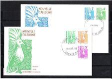 Nouvelle-Calédonie   enveloppe  série courant  le cagou   1989