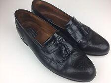 Bostonian Men's Black Slip On Loafer Kiltie Brogue Tassel Wingtip Dress Shoe 13M