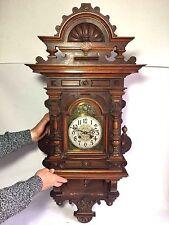 Antique Victorian German Lenzkirch Handmade Wall Clock - Stunning Detail