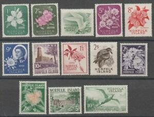 NORFOLK 1960 complete set MNH XF / SPN8158