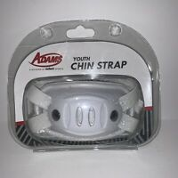 New Sealed Adams USA HC Football Chin Strap, White Youth Hardcup Schutt