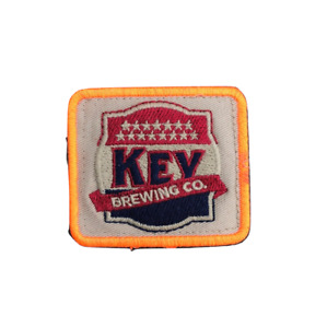 KEY BREWING Company Square Embroidered Patch MD