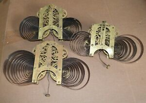 3 Antique Ansonia Brass Clock Movements