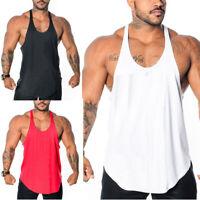 Men Gym Singlet Tank Top Stringer Bodybuilding Y-Back Muscle Fitness Vest M-3XL