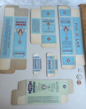 Lot 7 Vintage Medical Boxes Dr. J.B. Lynas & Son Apothecary Fig-O-Lax Pharmacy