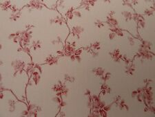 Dolls House Miniature 1:12th Wallpaper Scale Emma Toile Red (1424)