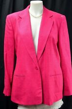 KGR for NORDSTROM Women's 100% raw Silk Jacket suit Coat blazer size 14P NEW VTG