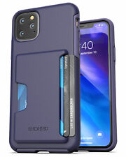 iPhone 11 Pro Max  Wallet Case Durable Cover with Credit Card Holder Slot Purple