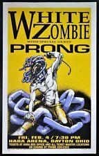 White Zombie PRONG Dayton OH 1994 Derek Hess SIGNED Silkscreen Concert Poster