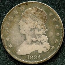 1834 (VG) 25C SILVER LIBERTY CAP QUARTER