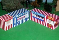 HO Scale 1/87 Circus or Carnival Fairway Game Tents KIT