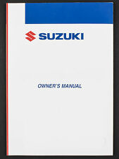 Genuine Suzuki Motorcycle Owners Manual For Dr-Z400S (2006) 99011-29F66-01A