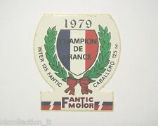 ADESIVO MOTO 1979 / Old Sticker FANTIC MOTOR FRANCE CABALLERO 125 (cm 6 x 6)