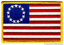 AMERICAN FLAG PATCH new USA 13-STAR BETSY ROSS 1776 EMBROIDERED IRON-ON US LOGO