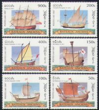 Laos 1997 Ancient Sailing Ships/Sail/Boats/Transport/Nautical/Navy 6v set n35216
