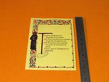 CHROMO 1970-1980 CATHOLICISME IMAGES PIEUSES HOLY CARD PRIERE MOINE