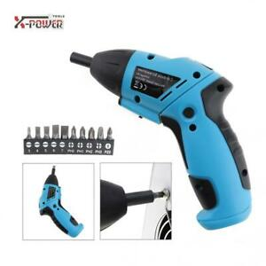 6V Operated Cordless Electric Screwdriver LED for Household Maintenance Mini
