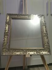 Ornate French Vintage Style shabby Chic Chrome Wall Mirror 41cm X 41cm