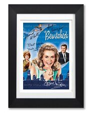 BEWITCHED CAST SIGNED POSTER TV SHOW SERIES SEASON PHOTO AUTOGRAPH GIFT