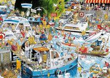 Cruise Chaos 1000 Piece Funny Cartoon Ship Boat Jigsaw Puzzle Falcon de Luxe