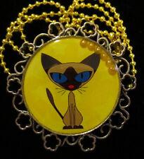 Siamese Kitten Cat Necklace-Handmade Resin
