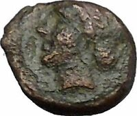 Greek City Authentic Ancient Coin 300-100BC APOLLO Cult Lyre i50296