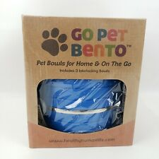 New listing Go Pet Bento Pet Bowls For Home Or Travel Blue Medium New Stainless Steel