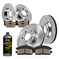 For Town & Country Caravan Journey Front+Rear Disc Brake Rotors & Ceramic Pads