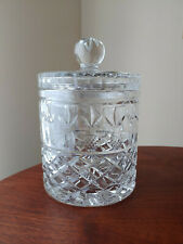 Vintage Crystal Glass Biscuit Jar with Lid