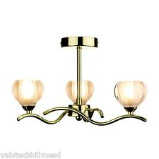 Dar Lighting Cynthia 3 Light Candle-Style Chandelier,In Polished Brass.