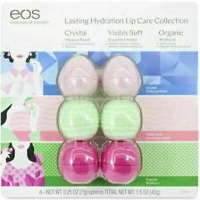 EOS Lasting Hydration Lip Care Collection Balm Hibiscus Cucumber Wildberry 6 Pcs