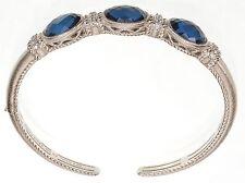 Judith Ripka Hermatite Doublet Sterling silver bracele Size Small