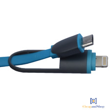 Cable chargeur de téléphone 2 en 1 (USB vers iPhone, Samsung, Huawei...)