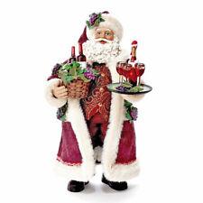 Kurt Adler Fabriché Santa With Wine Basket Serving Wine C7469 Christmas Figurine