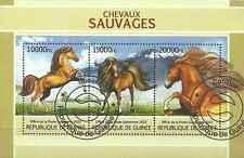 Timbres Chevaux Guinée 6733/5 o année 2013 lot 14830 - cote : 22 €
