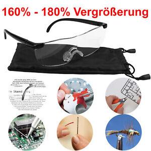 Lupenbrille Vergrößerungsbrille 160% 180% Vergrößerung Zauberbrille Kopflupe