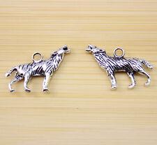 10 pcs Retro Style Tibet silver  Wolf  charm pendant 25x18 mm