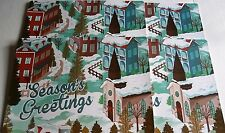 "CHRISTMAS Placemat's 18"" x 13"" SEASON'S GREETINGS  Set of 4"