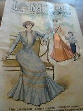 ANCIENNE REVUE LA MODE DU PETIT JOURNAL AVEC PATRON PELERINE ENFANT N°30 1901