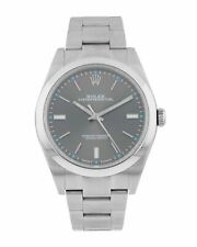 Rolex Oyster Perpetual 39mm Rhodium Dial Stainless Steel Men's Watch 114300