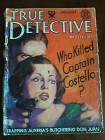 True Detective magazine  January 1934 / crime / murder / mystery / intrigue