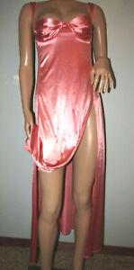 Victoria Secret Pink Satin Second Skin Long Sexy Nightgown Sz LG