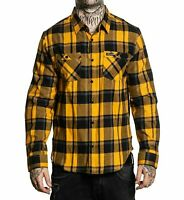 Sullen Art Collective Honey Suckle Button Up Long Sleeve Shirt Tattoo Clothing